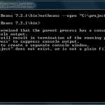 Opening Netbeans PHP Projects from the Windows 7 Command Line