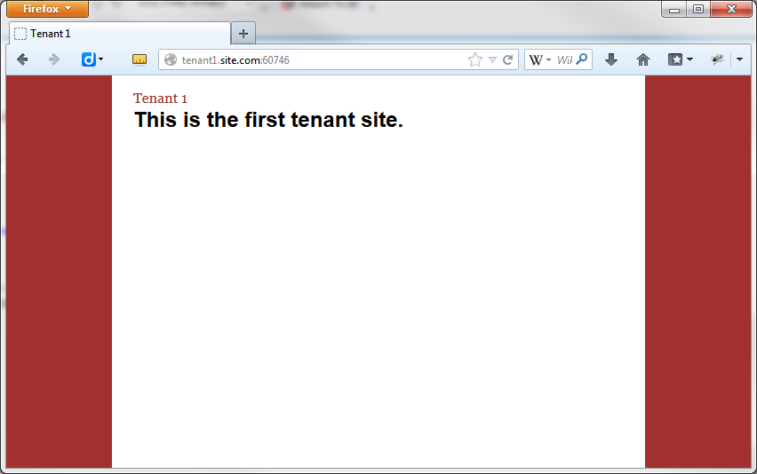Figure 24: The first tenant site.