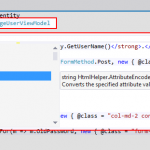 Figure 20: The restored syntax highlighting and Intellisense support.